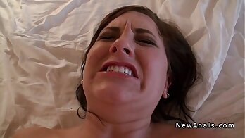 Amateur girlfriend home made anal by big dildo