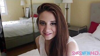 Curvaceous brunette teen Elektra Rose screwed