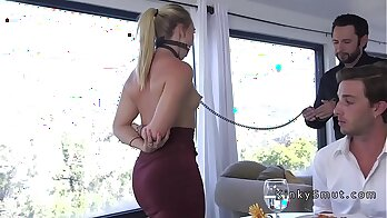 Boss In Bondage traps bank patrons wife