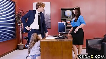 Threesome for poochies at the office