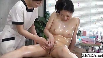 Masturbating In Hot Gym with Lesbian Massage