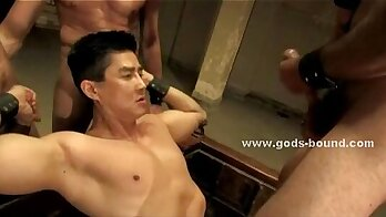 Twink slave gets rough anal from this lucky guy