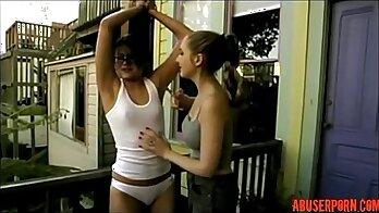 Mistress and Slave gril skirting lesbian beads assdildo real teen porn