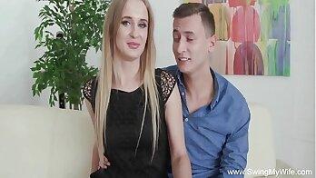 Czech blonde MILF Camila gets face banged by her horny boyfriends stud
