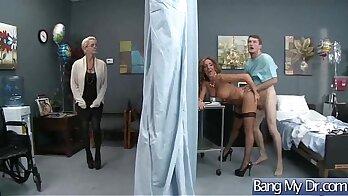 Sissy nurse Natasha likes your cock while she cleansup
