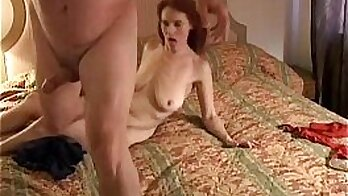 redhead and her dude table football