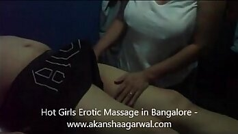 An extremely erotic moaning teen massage and hot blowjob