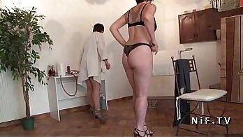 Blonde, rough sex and amateur mature ffm