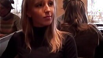 Amateur Tasha Jantzen Blows Her Friend in Public Bathroom