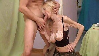 Younger Granny filmed naked