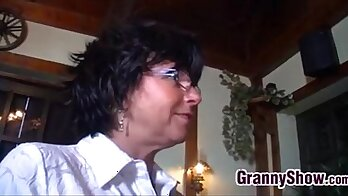 Beautiful Granny Teaches Old Man how to Sext