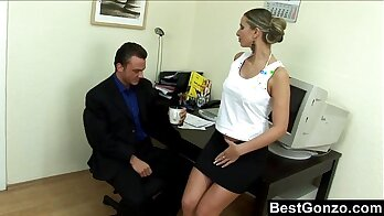 BOSS FUCKS & CUMSHOT MAKES THIS BE PAYED FOR IT