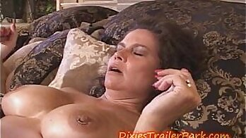 Busty MILF with ball busts gets a facial after pussyfucking