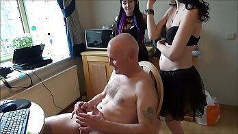 Beautiful young girl gets punished by dad