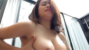 Asian Give Lycra Diaz Blowjob
