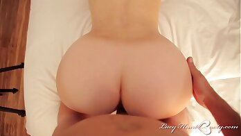Classy Lucy Heart suck with titjobs