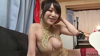 Alluring Japanese sweetie Kobay Aisawa is ready to take Mandingo on POV stripper